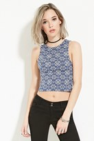 Forever 21 Ornate Print Crop Top