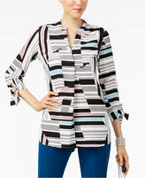 Alfani Tie-Sleeve Top, Created for Macy's