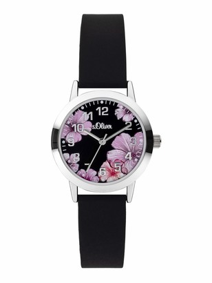 S'Oliver Girls Analogue Quartz Watch with Silicone Strap SO-3930-PQ