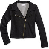 Epic Threads Girls' Denim-Look Moto Jacket, Only at Macy's