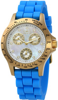 Invicta Blue Speedway Multi-Function Silicone-Strap Watch - Women