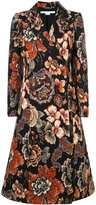 Stella McCartney concealed fastening floral coat - women - Cotton/Acrylic/Polyester/Viscose - 40