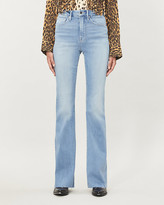 Good American Good Flare faded high-rise jeans