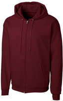 Clique Maroon Fleece Zip-Up Hoodie - Unisex