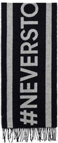 Gant Navy and Grey Never Stop Learning Scarf