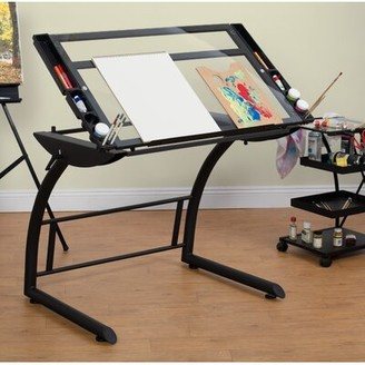 Studio Designs Triflex Glass Drafting Table Color: Clear