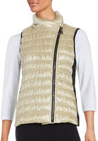 Calvin Klein Asymmetrical Zip Down Vest