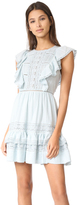 Rebecca Taylor Gauze Dress with Lace