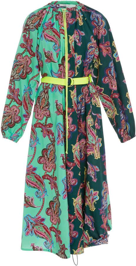 Tibi Patchwork Print Dress