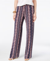 Style&Co. Style & Co Printed Wide-Leg Pants, Only at Macy's