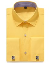 DRESSERVICE French Cuff Long Sleeves Fit Dress Shirts (Cufflink Included)