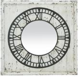 Keeping Time Distressed Mirror - White