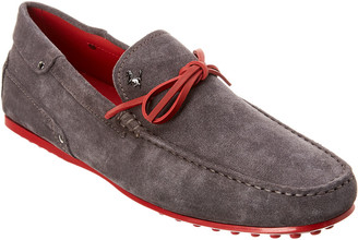 Tod's TodS X Ferrari Gommino Suede Loafer