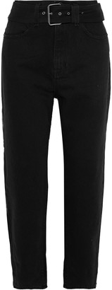 Proenza Schouler Pswl Skater Belted High-rise Straight-leg Jeans