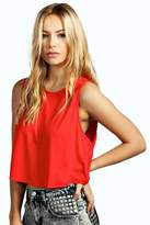 Boohoo Rella Crop Drop Arm Vest