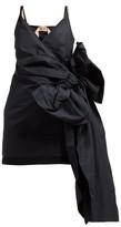 No.21 No. 21 - Side Bow-embellished Twill Mini Dress - Womens - Black