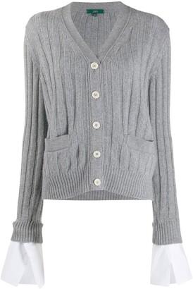 Jejia Slouched Rib-Knit Cardigan