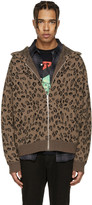Alexander Wang Brown Leopard Hoodie