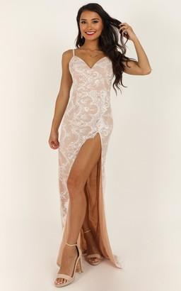 Showpo Wrap Me Up In Lace Dress in white lace - 4 (XXS) Dresses