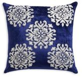 Callisto Home Davina Hand Embroidered and Sequined Velvet Throw Pillow