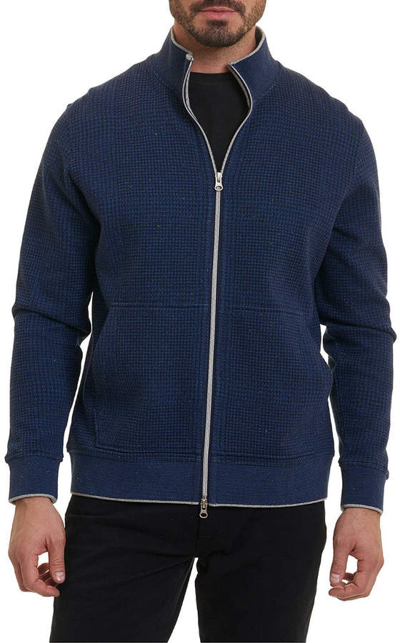 Robert Graham Hyde Park Classic Fit Full Zip Mock Pullover