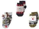 Mud Pie Infant 3-Pack Camo Christmas Socks