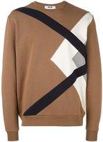 MSGM abstract print sweatshirt