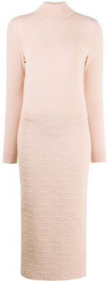 Elisabetta Franchi Bodycon Roll Neck Dress
