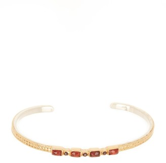 Anna Beck 18K Yellow Gold Plated Sterling Silver Mosaic Stacking Cuff Bracelet