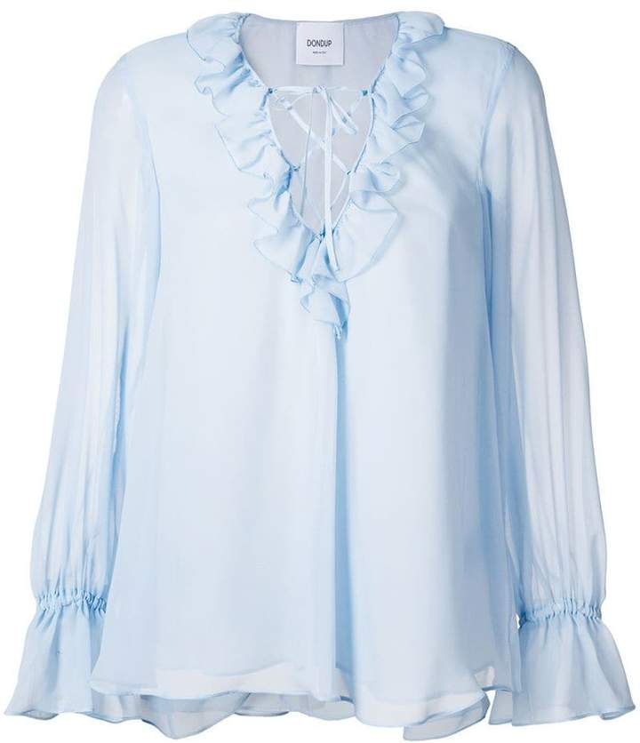 Dondup ruffled front blouse