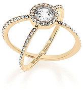 Michael Kors Cubic Zirconia Crisscross Ring