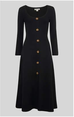 Whistles Button Detail Jersey Dress