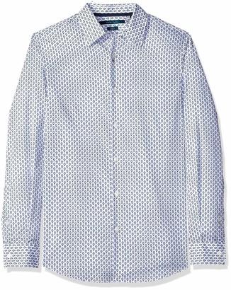 Perry Ellis Men's Slim Fit Dot Print Stretch Shirt