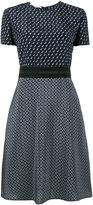 Stella McCartney tie print short sleeve dress - women - Silk/Polyamide/Latex - 38