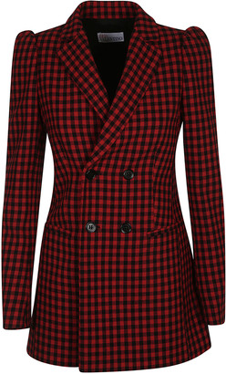 RED Valentino Check Double-breasted Blazer