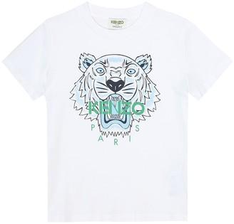 Kenzo Kids Tiger printed cotton T-shirt