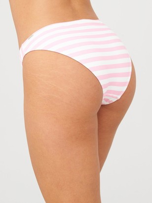 Boux Avenue Belle Mare Stripe Classic Brief - Pink Mix