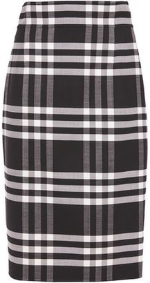 Oscar de la Renta Checked Wool-blend Pencil Skirt