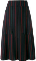 See by Chloe pinstriped midi skirt - women - Polyester/Spandex/Elastane/Viscose - 36