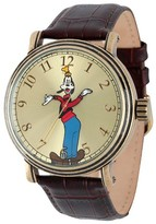 Disney Men's Goofy Antique Vintage Articulating Watch with Alloy Case - Brown