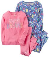 "Carter's Girls 4-14 Sweet Dreams"" Monsters 4-pc. Pajama Set"