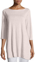 Eileen Fisher 3/4-Sleeve Organic Linen Tunic, Petite