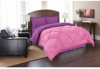 Elegant Comfort All - Season Down Alternative Luxurious Reversible 3-Piece Comforter Set Full/Queen Bedding