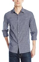 Kenneth Cole Reaction Men's Ls Chambray Shirt