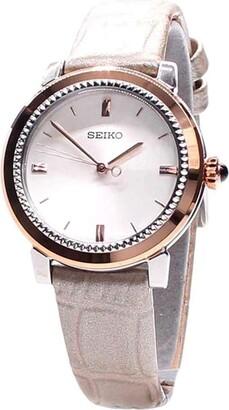 Seiko Women's Watch Analogue Quartz Leather SRZ452P1
