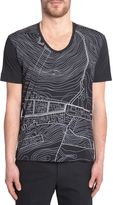 Diesel Black Gold Geomap Print T-shirt