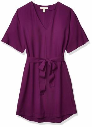 Lark & Ro Amazon Brand Women's Kimono-Sleeve Crepe Dress
