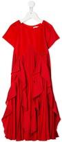 Givenchy Kids pleated ruffle dress