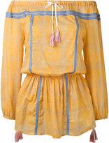 Lemlem off shoulder dress - women - Cotton - XS