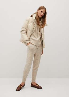 MANGO Quilted skin style jacket beige - L - Women